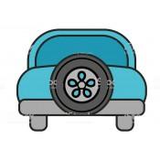 כיסוי גלגל אחורי לרכב
