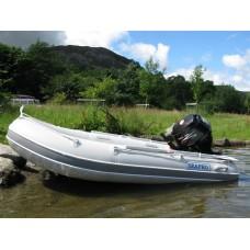 SEAPRO סירה גומי מקצועית רצפת אלומיניום קשיחה אורך 3.2 מטר תקן CE